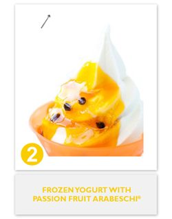 Frozen Yogurt with Passion Fruit Arabeschi®