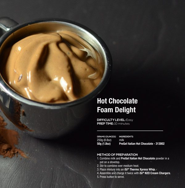 Hot Chocolate Foam Delight