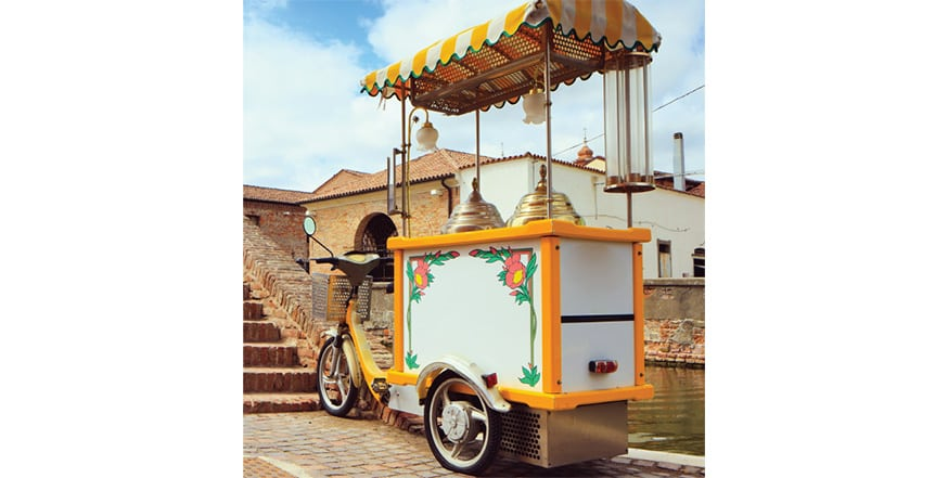 Gelato Bike Cart