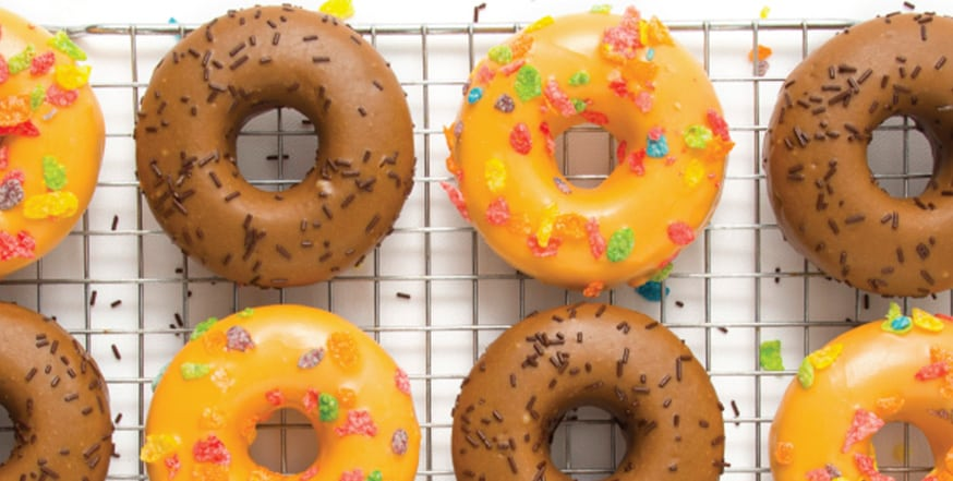 donuts on a drying rack